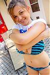 Busty amateur in a bikini