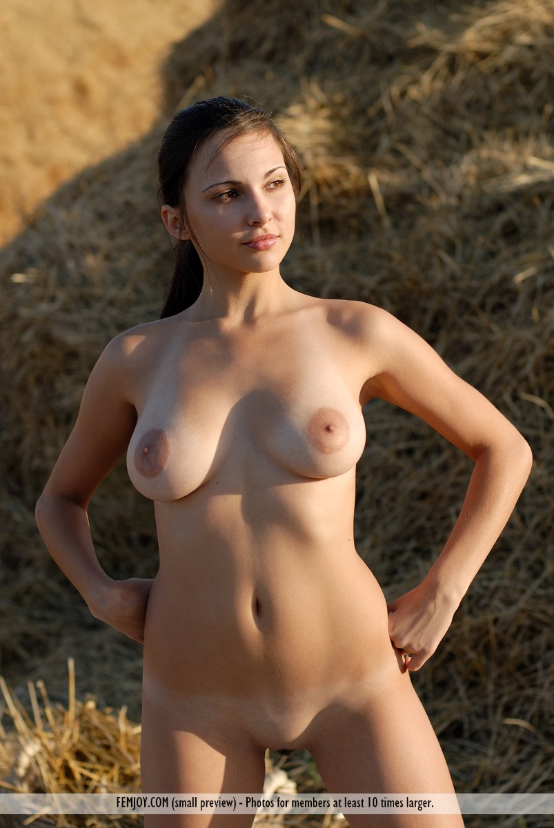 Beautiful nude models outdoors