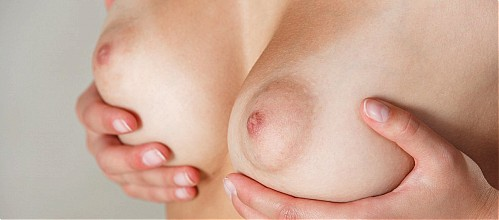 Firm boobs and puffy nipples