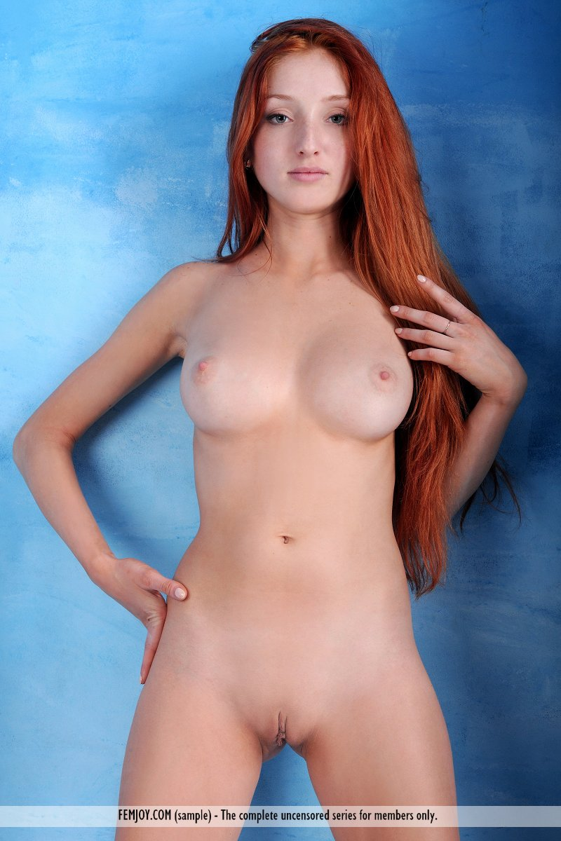 Red head boobs