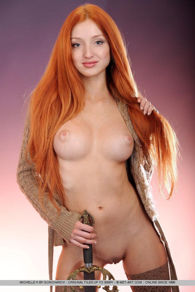 Met art redhead michelle big tits