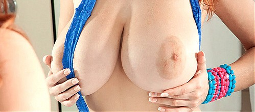 Valory Irene plays with her perfect boobs