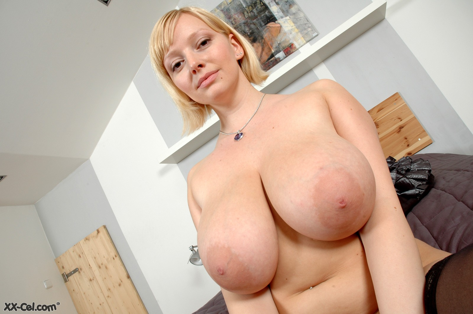 Big natural tits with huge nipples